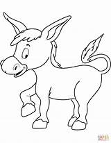 Donkey Coloring Pages Printable Drawing sketch template