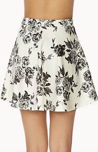 Forever 21 Dainty Floral Skirt in White (Cream/grey)   Lyst