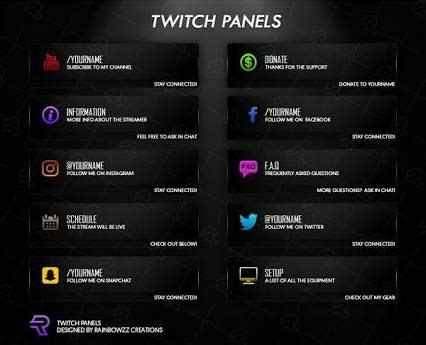 twitch info panel templates image result for free twitch panels streaming pinterest