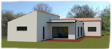 maison semi contemporaine plain pied 4 chambres à