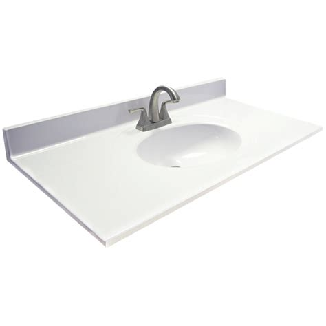 kohler vanity sink top shop us marble ambassador white on white cultured marble