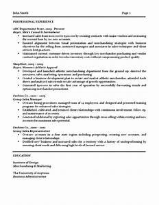 retail buyer resume With buyer resume