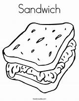 Coloring Pages Sandwich Worksheet Cheese Sheet Picnic Ham Noodle Foods Template Twistynoodle Twisty Printable Sandwiches Ss Sheets Cook Dog Sanwiches sketch template