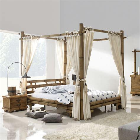 rideaux chambre à coucher lit baldaquin bambou bambu 3220
