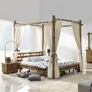 Lit A Baldaquin En Bois : lit baldaquin bambou bambu 3220 ~ Teatrodelosmanantiales.com Idées de Décoration