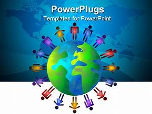 diverse world of people powerpoint template background of With diversity powerpoint templates free