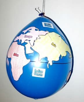 geography balloon globes world maps  learning lab tpt