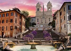 Piazza Di Spagna Digital Art by Dominic Davison