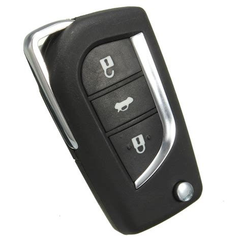 Remote Car Key Fob Cover Button Flip For Toyota Yaris