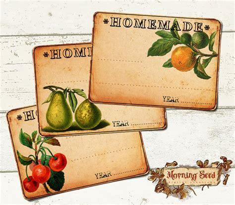 jam pot etiketten voor zelfgemaakte goederen set van