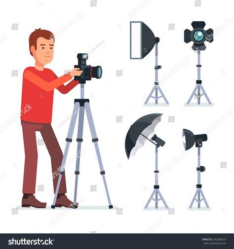 11934 professional photographer studio professional photographer on tripod photo stock