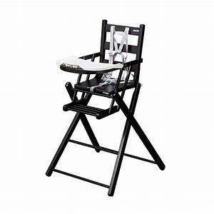 Chaise Pliante Noire : chaise haute extra pliante sarah laqu noir combelle pour chambre enfant les enfants du design ~ Teatrodelosmanantiales.com Idées de Décoration