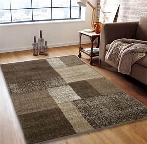 Tapis Beige Salon : grand tapis patchwork design beige 160x230cm ~ Teatrodelosmanantiales.com Idées de Décoration