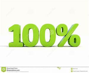 100% Percentage Rate Icon On A White Background Stock ...