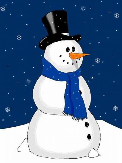 Winter Animated Clothes Kindergarten Snowman Gifs Brittany