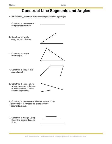 9 best images of worksheet identifying line segments rays