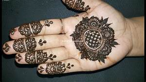 DIY Easy and Beautiful Arabic Henna Mehndi Design Tutorial ...