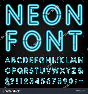 neon font generator shutterstock fonts and clipart With neon letters