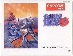 Manual Mega Man Iiimegaman 3 Game Nintendo Nes For Sale