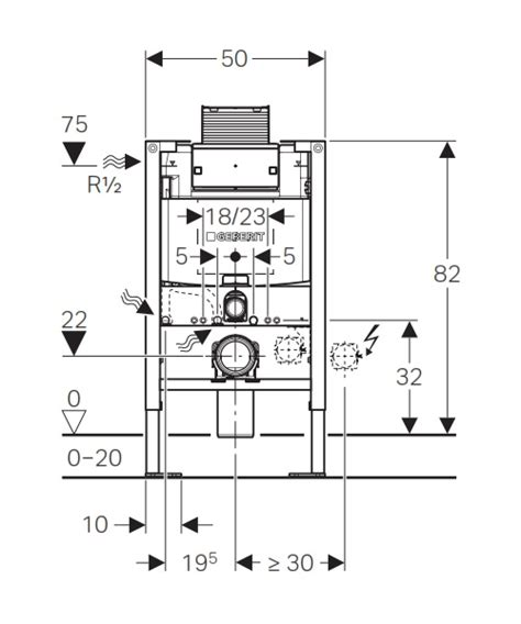 b 226 ti support wc faible hauteur 82 cm geberit duofix omega 12 cm autoportant bati support wc