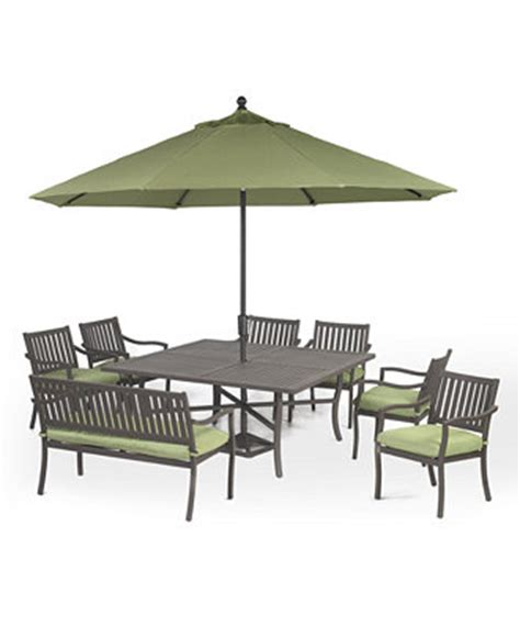 outdoor aluminum 8 pc dining set 64 quot square
