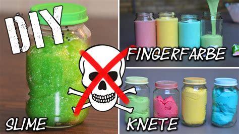 slime selber machen rezept diy fingerfarbe slime knete easy selbst gemacht dough finger paint