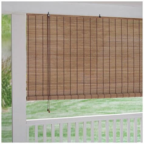 Roll Up Patio Shades by Bamboo Roll Up Blinds Big Lots