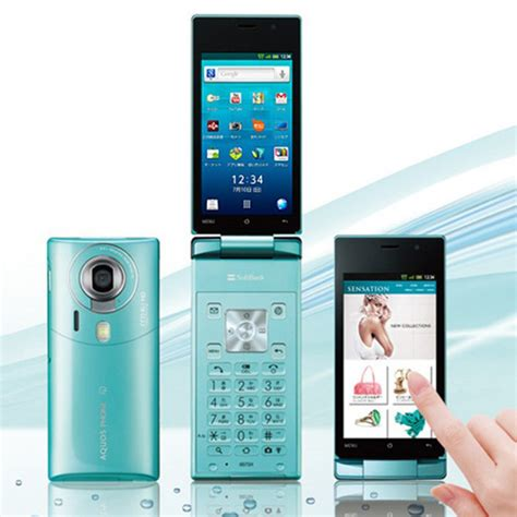 flip android phone sharp softbank to release world s android flip