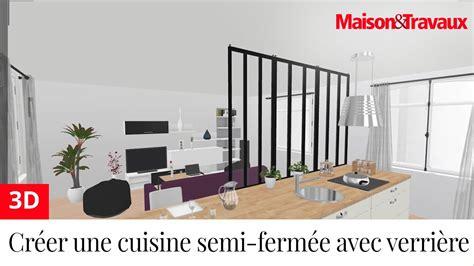 faire une cuisine en 3d ma maison en 3d créer une cuisine semi fermée avec une