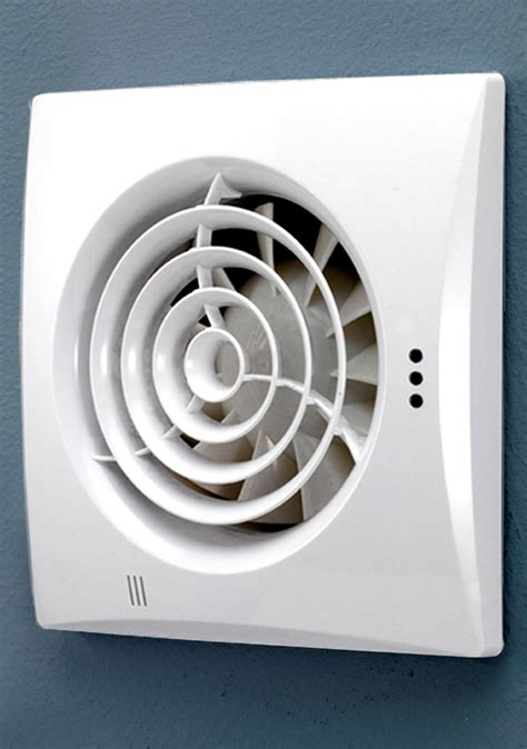 hib hush wall mounted white fan  timer  humidity