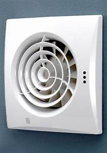 Hib Hush Wall Mounted White Fan With Timer And Humidity