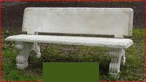 banc droit de jardin avec dossier le bon vivre With banc de pierre pour jardin