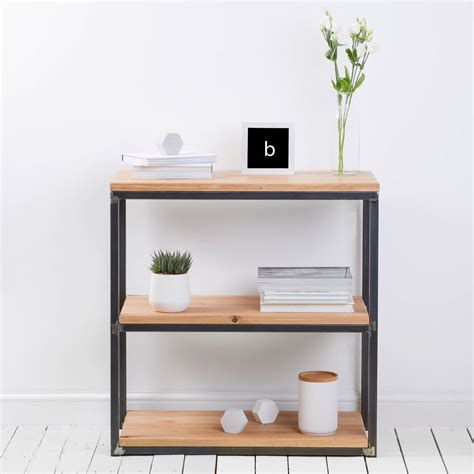Industrial Style Bookcase by Character Oak Industrial Style Bookcase By Edgeinspired