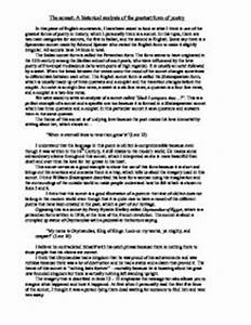 Sonnet  Analysis Essay Essay On Capital Punishment Sonnet   Shakespeare Sonnet  Analysis Essay Example Dissertation Topics Business  Management Last Year Of High School Essay also High School Application Essay Examples  Essay Proposal Format