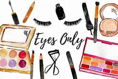 Makeup Clipart Eye Watercolor Cosmetic Clip Illustrations