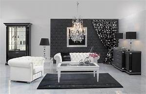 Wonderful black and white living room designs cool black for Black and white living room ideas