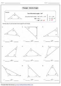 Find Missing Angles Worksheet Find The Missing Angle Measure In A Triangle Worksheet