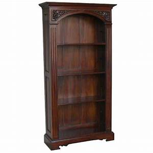 Arched, Top, Bookcase, Mahogany