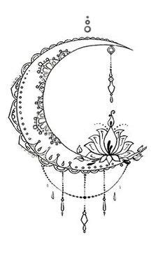 Pin by Kaaja on Coloring in 2020 | Moon tattoo designs