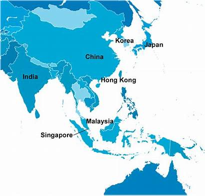 Asia Territories Map Southeast Japan