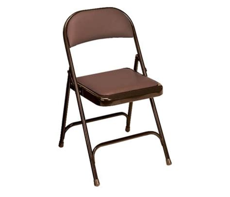 virco padded seat and back folding chair mocha brown
