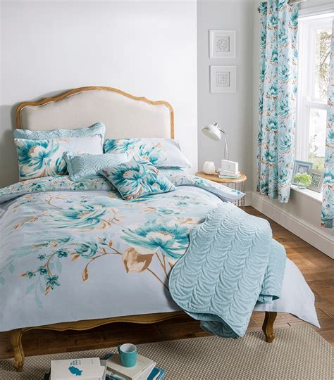 duck egg blue duvet cover bedding bed set or curtains or