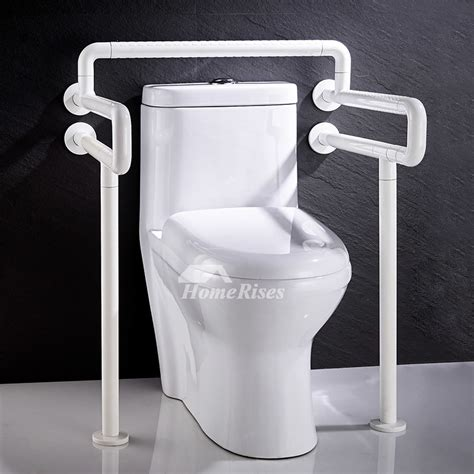 handicap toilet grab bars floor mounted stainless steel