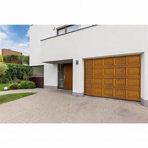 porte de garage sectionnelle motorisee artens premium h With porte de garage keritek