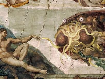 Wallpapers Spaghetti Zone Flying Monster Desktop Background