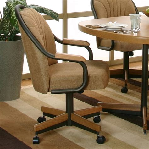 espresso harvest chenille upholstered dining arm chair