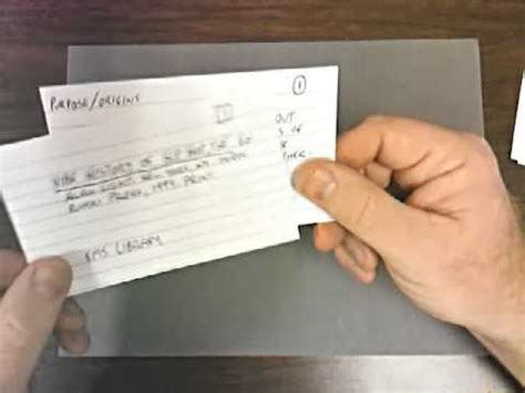 research bib  note cards youtube