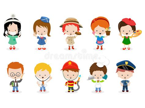 Kids Career Set Stock Vector. Illustration Of Kids