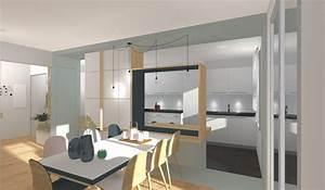 changer repenser une separation entre un sejour et une With photo de meuble de cuisine 5 stephane millet dans la maison france 5