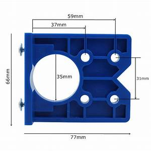 Cabinet Doors Concealed Hinge Jig Guide Boring Hole Drill